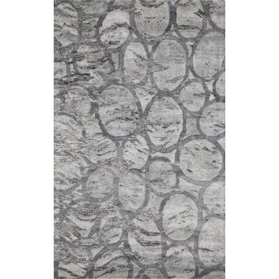 Jayla Hand-Tufted Silver Area Rug Rug Size: 2 x 3
