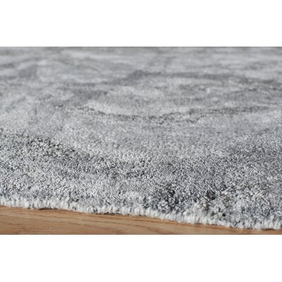 Jayla Hand-Tufted Silver Area Rug Rug Size: Rectangle 36 x 56