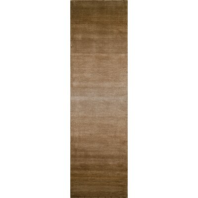 Gilda Hand-Tufted Brown Area Rug Rug Size: 33 x 53