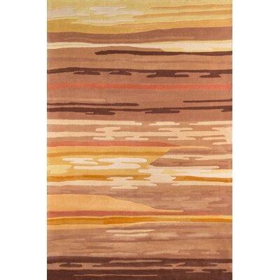 Eddie Hand-Tufted Tan Area Rug Rug Size: 76 x 96