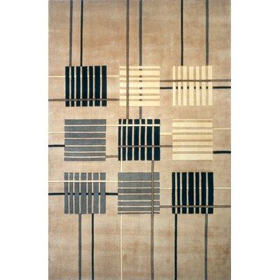 Eddie Hand-Tufted Sand Area Rug Rug Size: 76 x 96