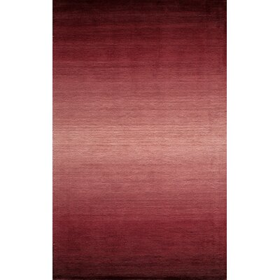 Gilda Hand-Loomed Plum Area Rug Rug Size: Rectangle 23 x 39
