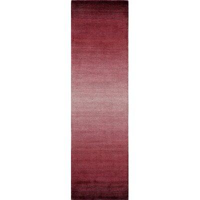 Gilda Hand-Loomed Plum Area Rug Rug Size: Runner 23 x 8