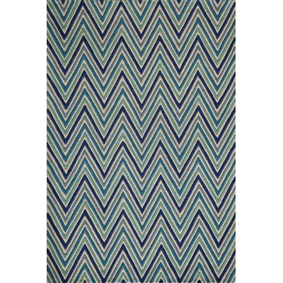 Grace Hand-Tufted Blue Area Rug Rug Size: 36 x 56