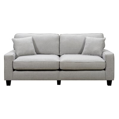 Lonnie 78 Track Arm Sofa Upholstery Color: Light Gray