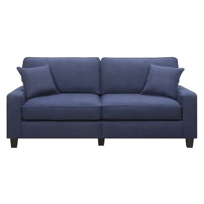 Georgetown 73 Track Arm Loveseat Upholstery: Navy