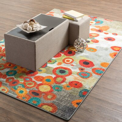 Burwood Tossed Floral Multi Printed Area Rug Rug Size: 8 x 11
