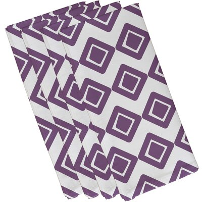 Rosalinda Diamond Jive 1 Napkin Color: Purple