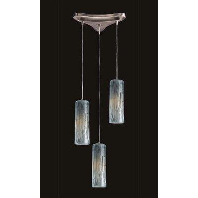 Cancer 3-Light Pendant Glass Type: Maple Dusk