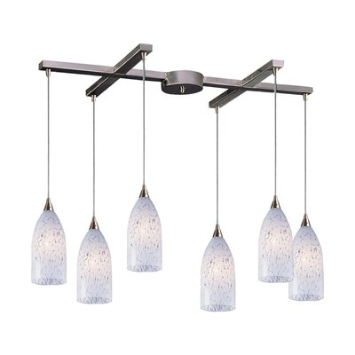 Leakey 6-Light Pendant Glass Type: Snow White