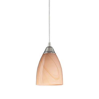 Frostia 1-Light Mini Pendant Finish: Satin Nickel and Candy Glass