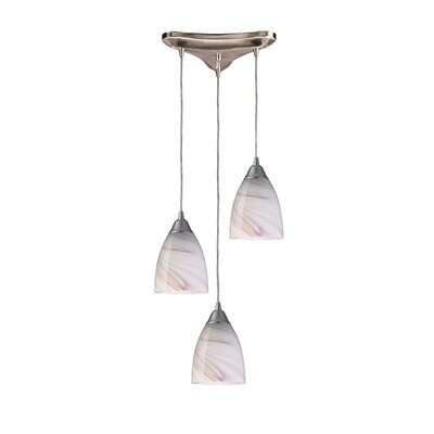 Frostia 3-Light Pendant Glass Type: Creme