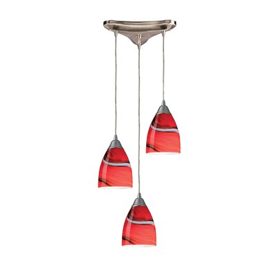 Frostia 3-Light Pendant Glass Type: Sandy