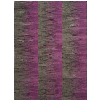 Amerina Hand-Woven Purple/Charcoal Area Rug Rug Size: 8 x 10