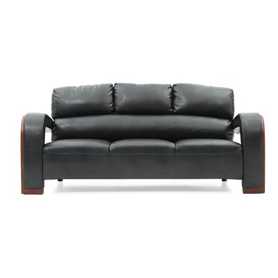 Troy Modern Sofa Color: Black