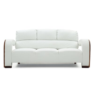 Troy Modern Sofa Upholstery: White