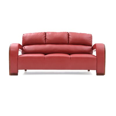Troy Modern Sofa Color: Red