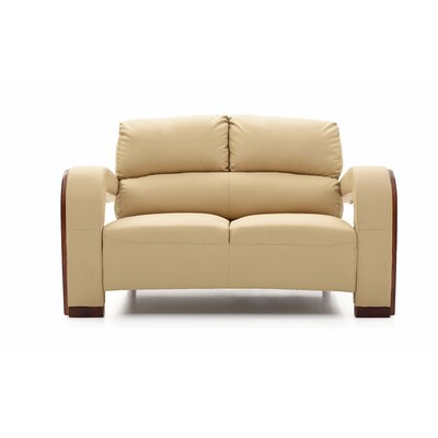 Troy Modern Loveseat Color: Beige