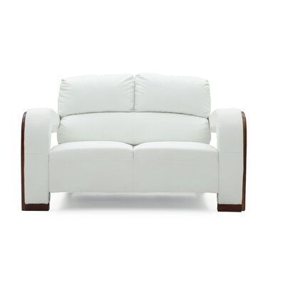 Troy Modern Loveseat Color: White