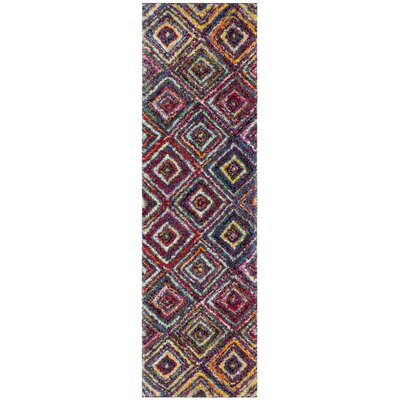 Gleno Red/Yellow Area Rug Rug Size: Runner 23 x 8