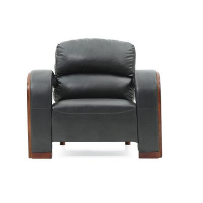 Troy Armchair Upholstery: Black