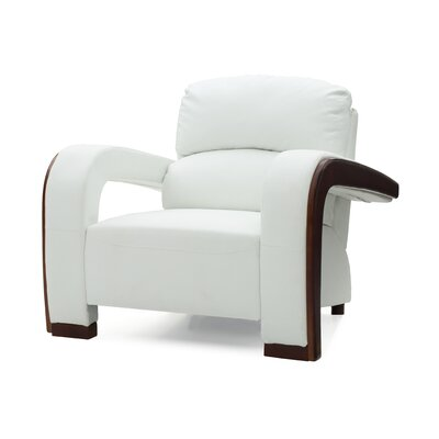 Troy Armchair Upholstery: White