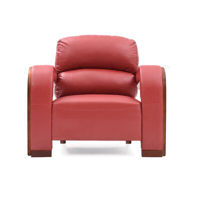 Troy Armchair Upholstery: Red