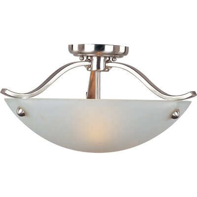 Hawkesbury 2-Light Semi-Flush Mount Finish: Satin Nickel