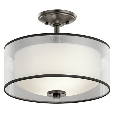 Ronald 2-Light Semi Flush Mount Finish: Mission Bronze