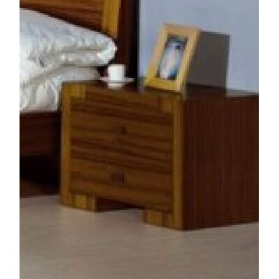 Maxim 2 Drawer Nightstand Finish: Teak