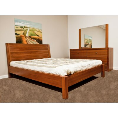 Bruges Platform Bed Size: King, Color: Teak