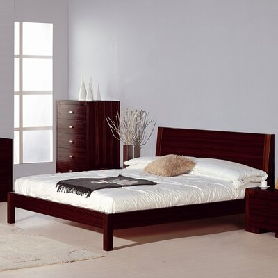 Bruges Platform Bed Size: Queen, Color: Wenge