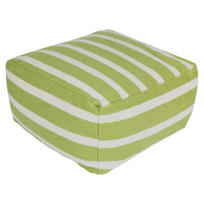 Ira Striped Pouf Size: 24x24x13