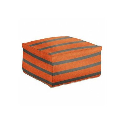 Ira Striped Pouf Size: 18