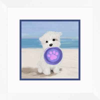 'Beach Dog II' Framed Graphic Art