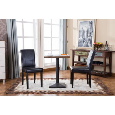 Camptown Parson Chair Upholstery: Black
