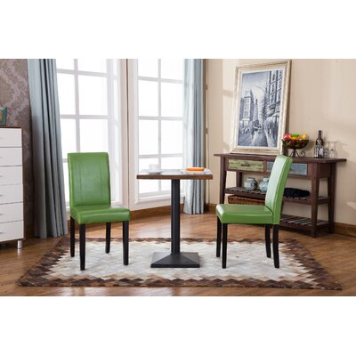 Camptown Parson Chair Upholstery: Green