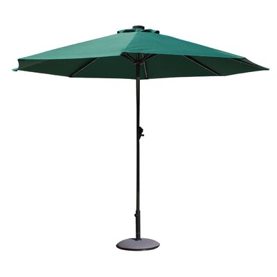 Davian 9 Illuminated Umbrella Fabric: Dark Green