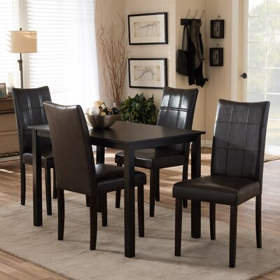Mcshan 5 Piece Dining Set