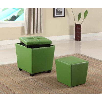 Hato-Udo Storage Ottoman Upholstery: Green