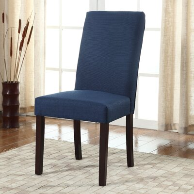 Metinaro Side Chair Upholstery: Mariana Blue