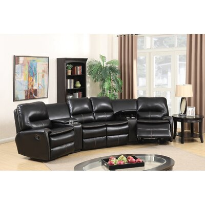 Yonkers Leather Sectional