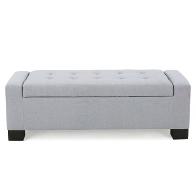 Kramer Storage Ottoman Upholstery: Light Grey