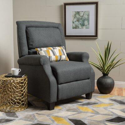 Tiffin Fabric Recliner Upholstery: Dark Grey