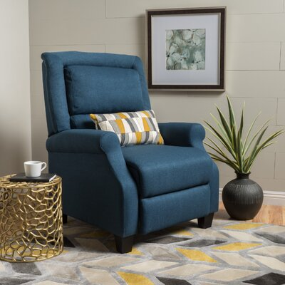 Tiffin Fabric Recliner Upholstery: Dark Blue