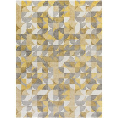Lonie Hand-Tufted Lemon/Moss Area Rug Rug Size: Rectangle 2 x 3