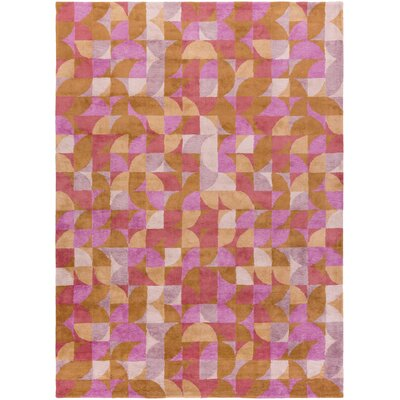 Chickamauga Hand-Tufted Pink/Orange Area Rug Rug Size: 5 x 8