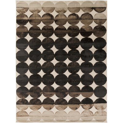 Bellevue Charcoal/Beige Area Rug Rug Size: Rectangle 52 x 76