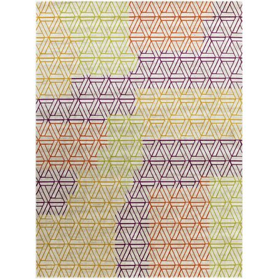 Wendell Purple/Green/Orange Area Rug Rug Size: 76 x 106