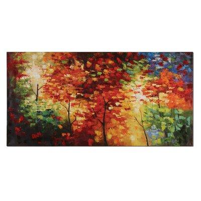 'Bright Foliage' Painting Print on Canvas LATR7272 34299649